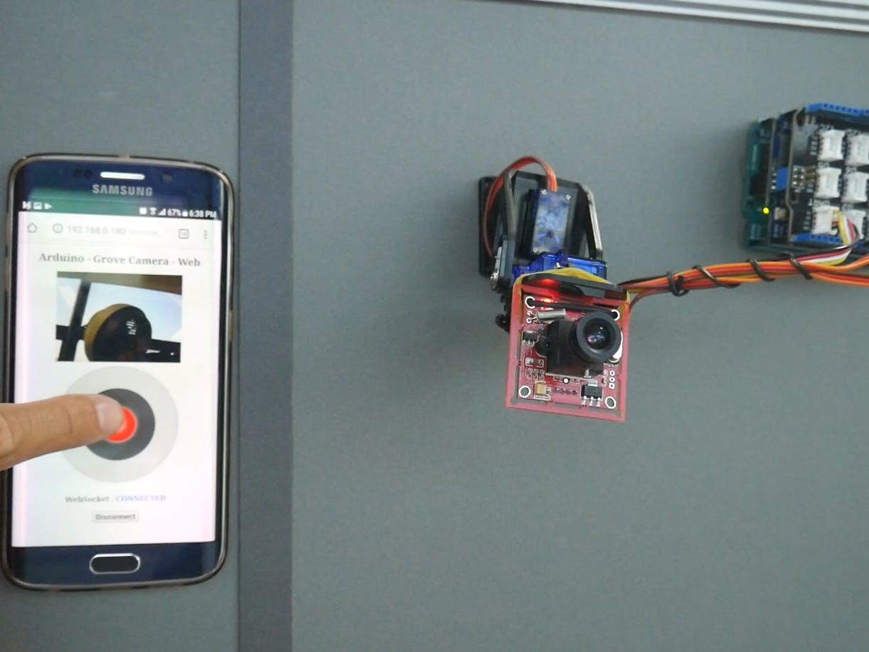 Arduino - Pan Tilt Grove Camera on Web
