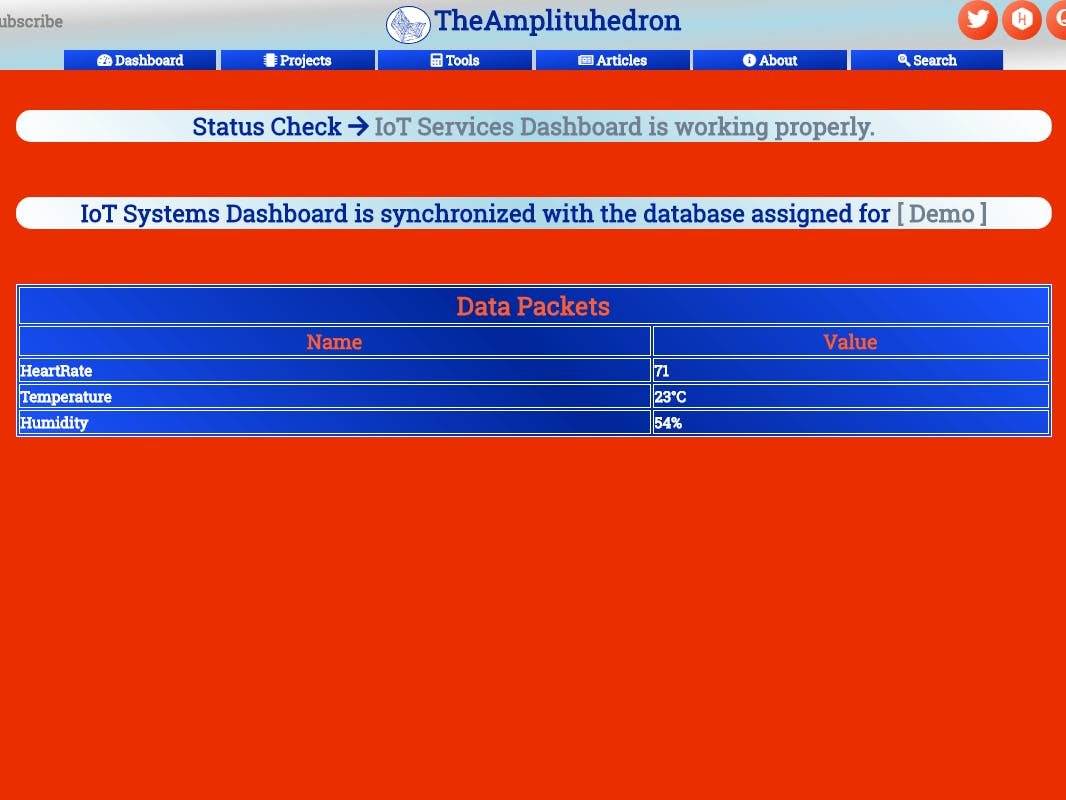 Free IoT Services | Get Heart Rate, Temperature and Humidity