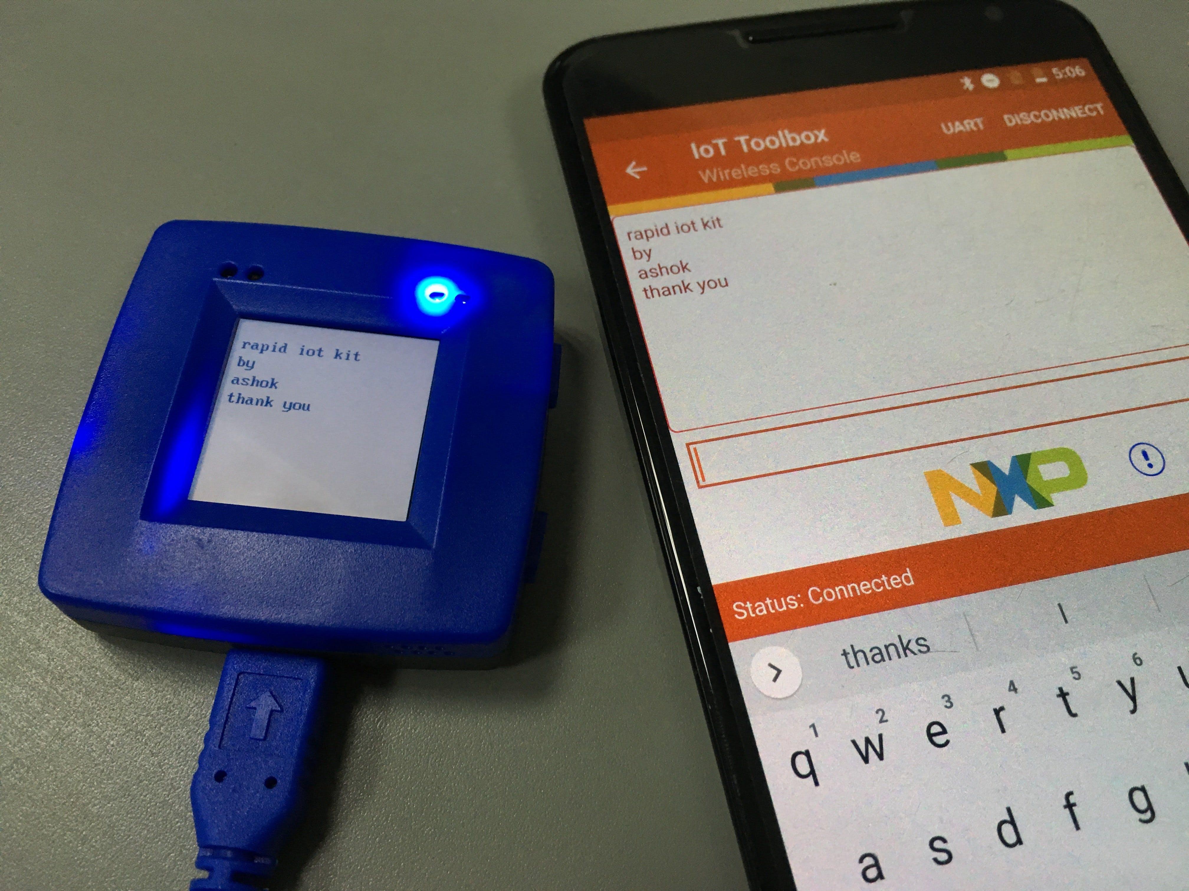 Rapid IoT Kit - Wireless UART