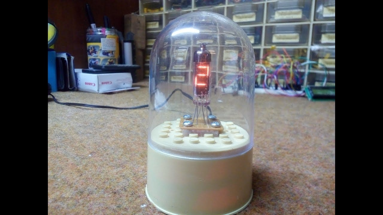 """Arduino """"One Digit"""" IV9 Numitron Clock"""