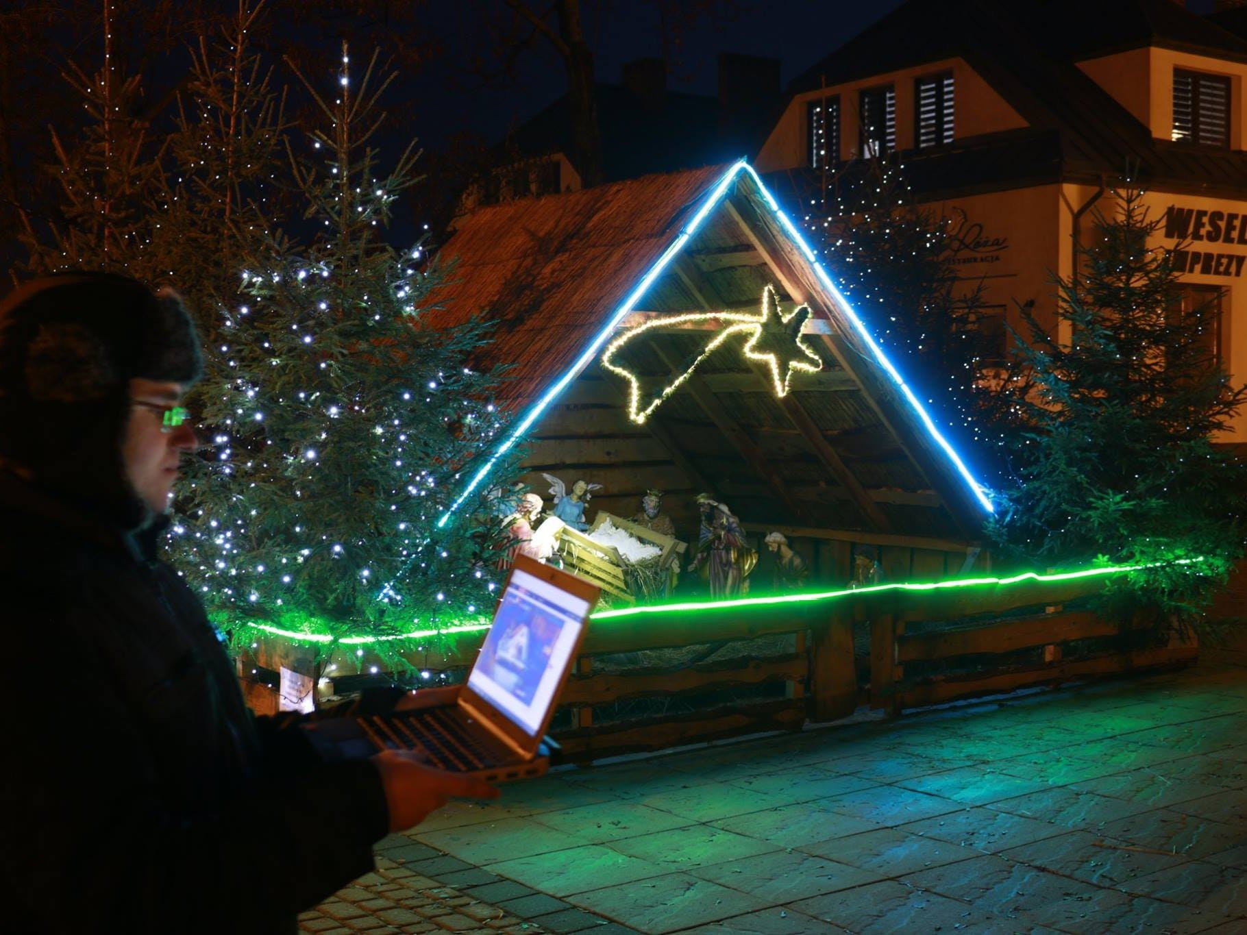 Christmas Crib Controlling via Internet