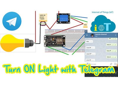 Turn a Light On/Off with Telegram