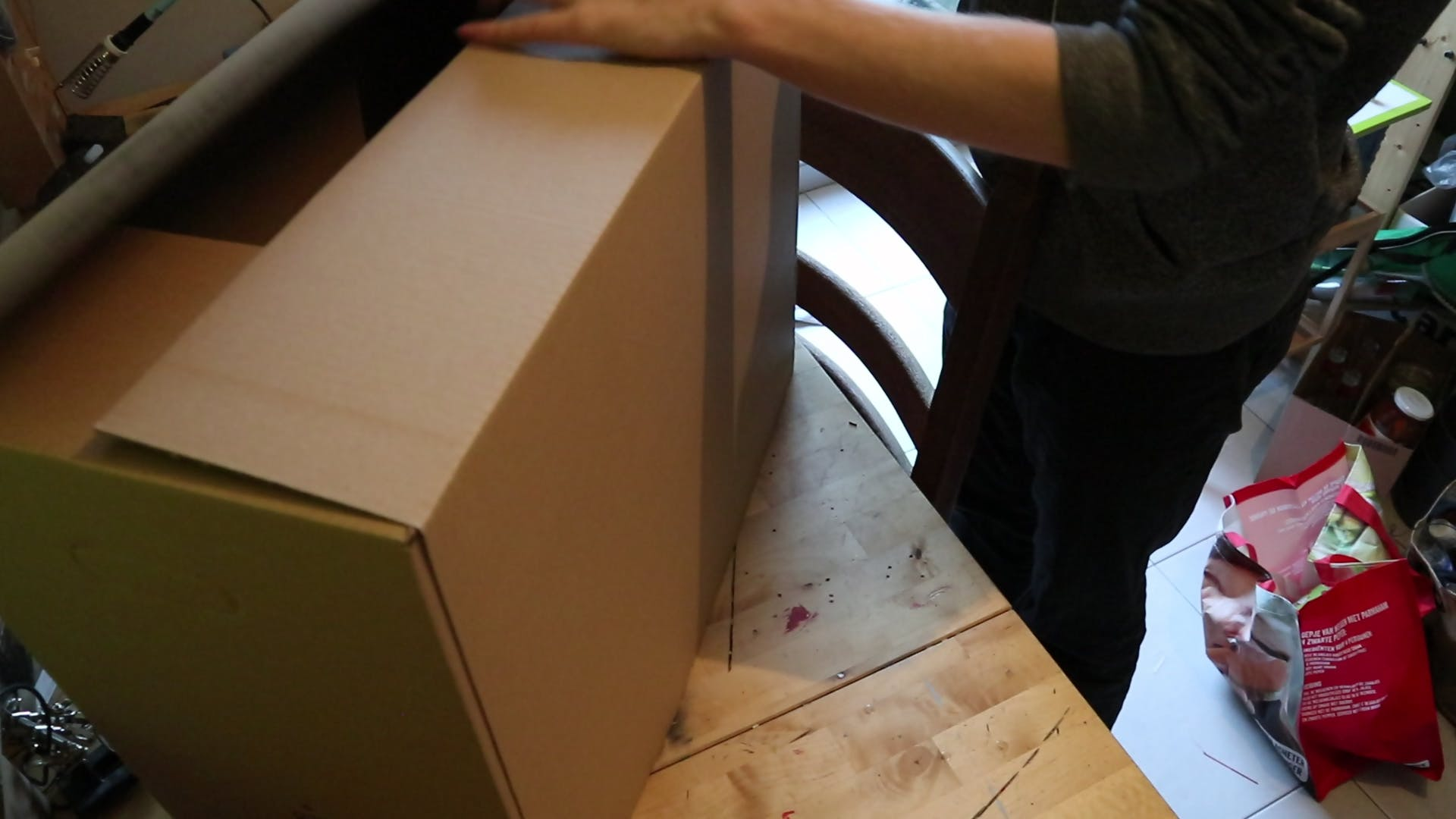The folding of one box