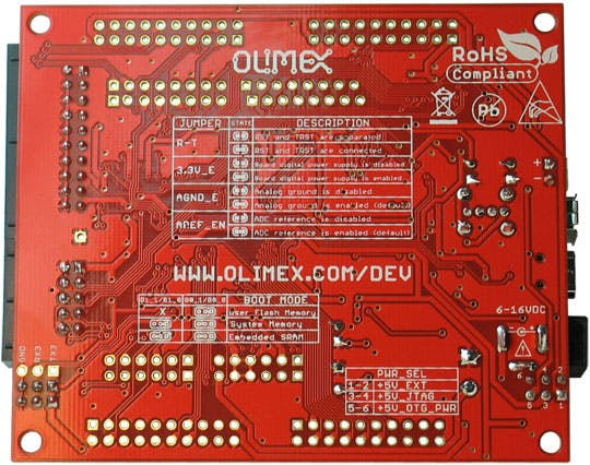 STM32 H@407 Board Back