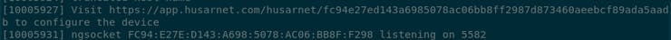 After your ESP32 connects to WiFi network, you should see the configuration URL.