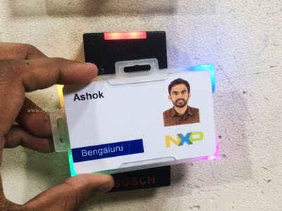 Smart Blinking ID Card