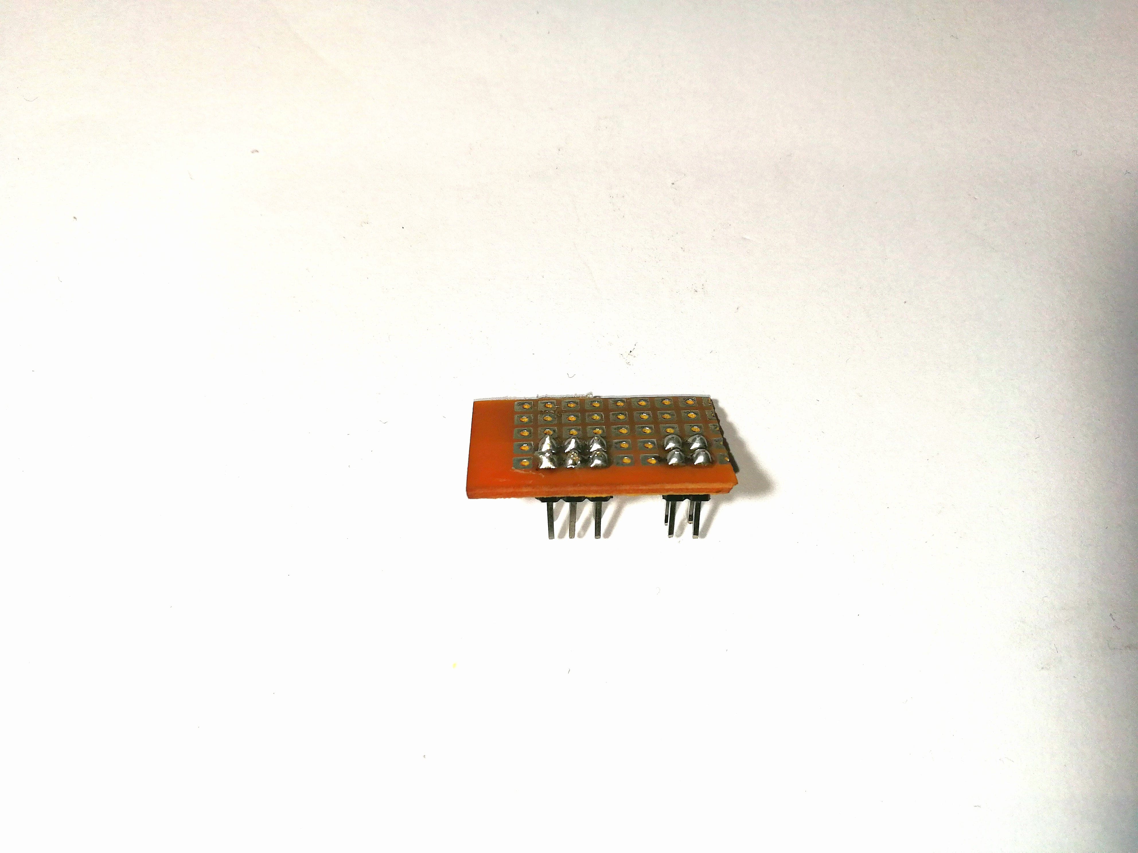 Small PCB made to fit on Idiotware Shield