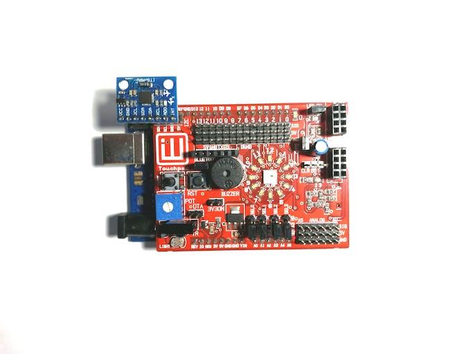Insert the MPU6050 as shown