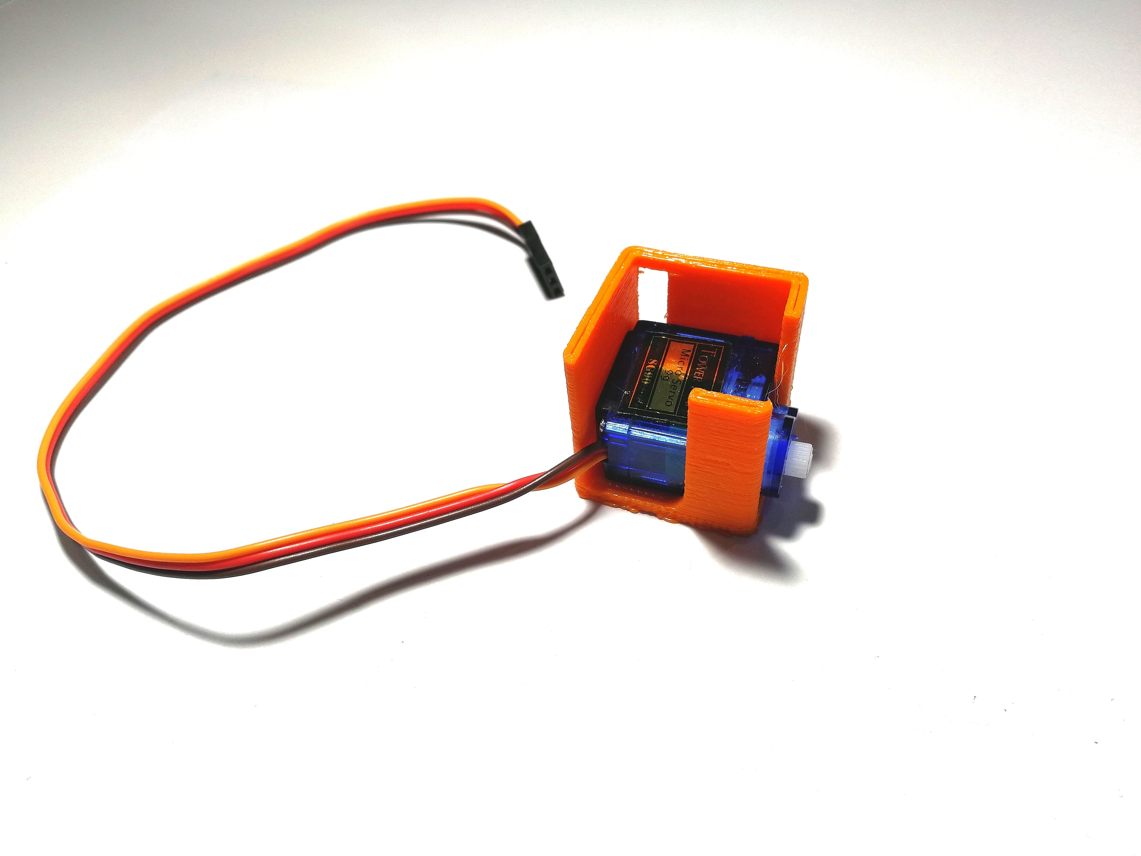 Mount Servo In the 3D Printed Part