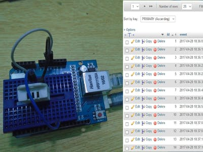 Logging Data to Database Using Arduino Ethernet Shield