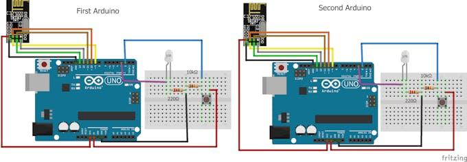 Nrf24l01 Interfacing With Arduino Wireless Communication Arduino Project Hub