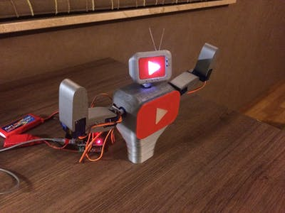 Subby the Interactive YouTube Subscriber Robot