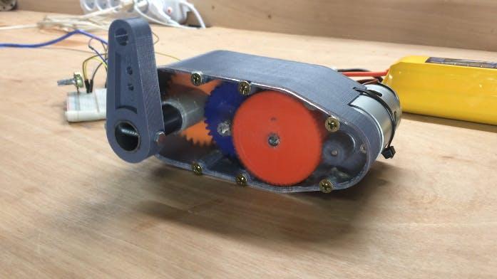 3D-Printable High Torque Servo/Gear Reduction
