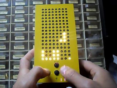 Arduino Nano Tetris Game on Homemade 16x8 Matrix