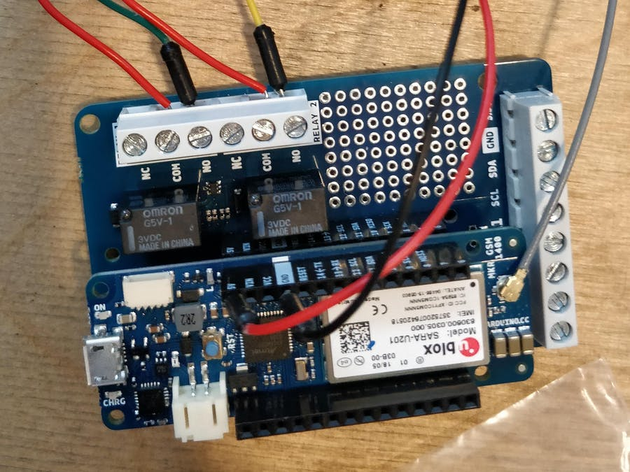 Control Two Relays Over the Internet