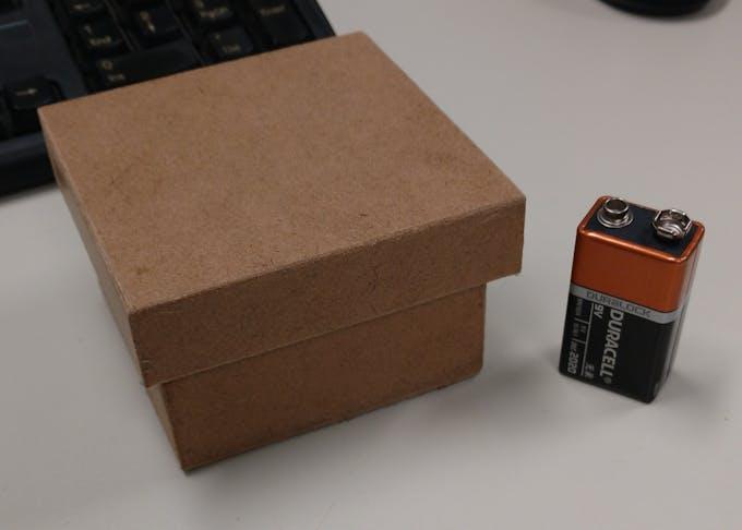 A 7cm x 7cm box.