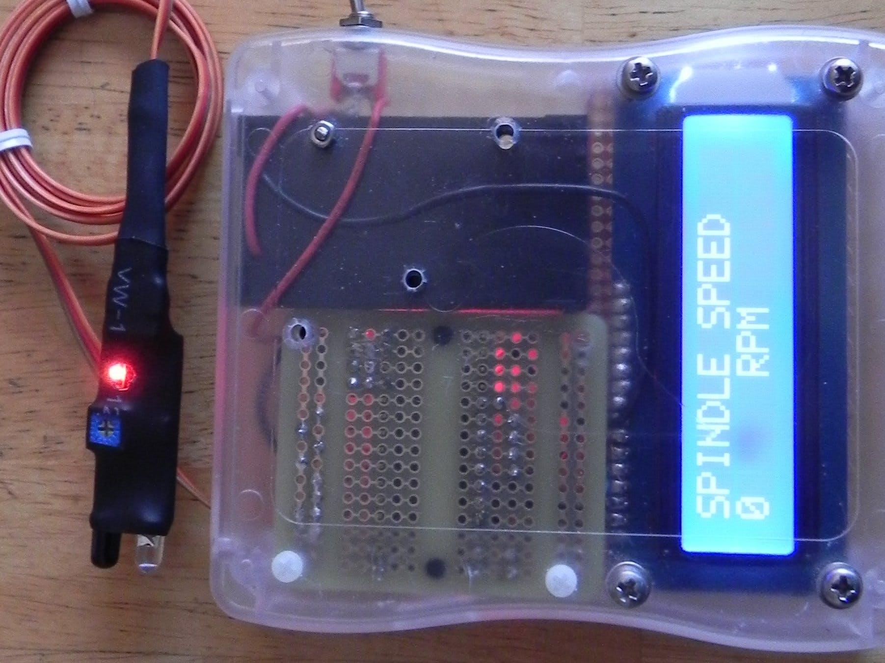 Arduino IR Lathe Tachometer