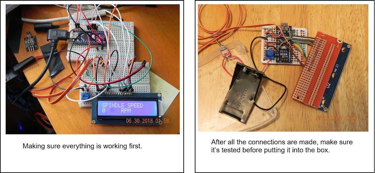 Arduino IR Lathe Tachometer - Hackster io