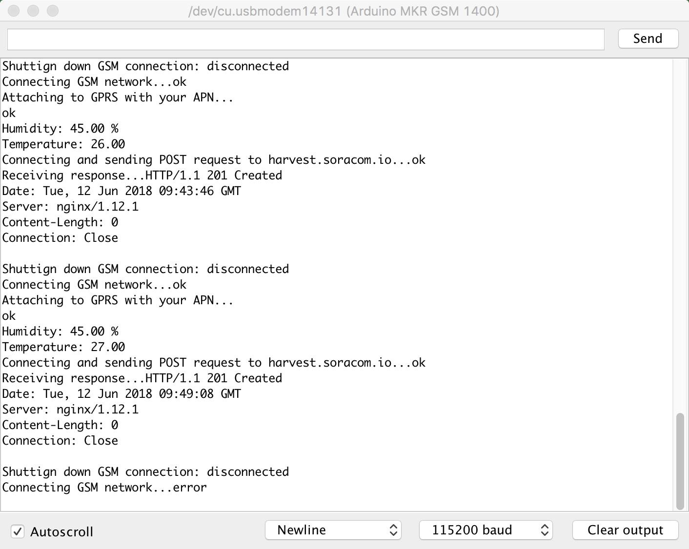 Arduino IDE Console