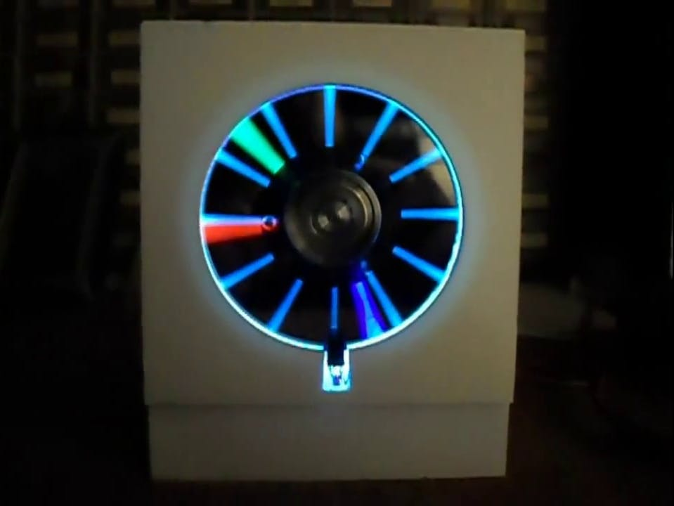 Arduino HDD POV Clock (Persistence of Vision)