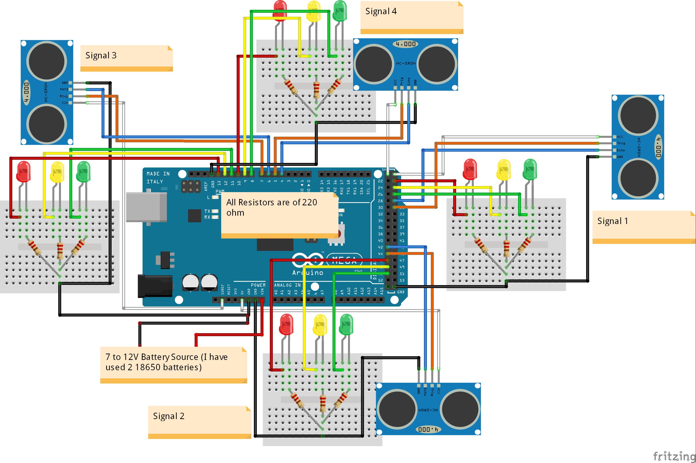 Traffic Signal Stop Light Wiring With Arduino Controller 6 - Schema