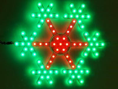 RGB LED Snowflake with Arduino Uno