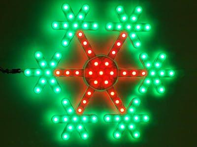 RGB LED Snowflake with Arduino Uno