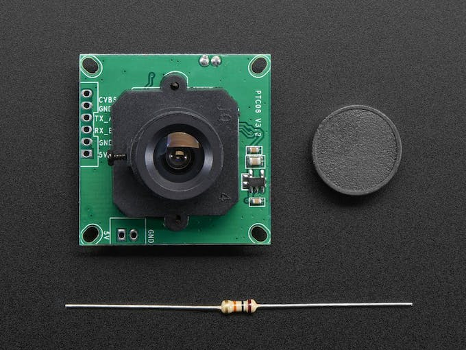 Figure 3. Camera (Top) without driver RS-232 (MAX3232).