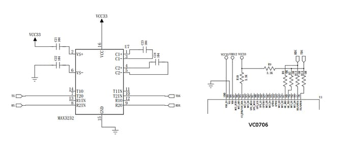 Figure 9. Scheme VC0706 Camera (with MAX3232).