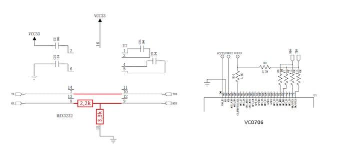 Figure 10. Scheme VC0706 Camera (voltage divider).