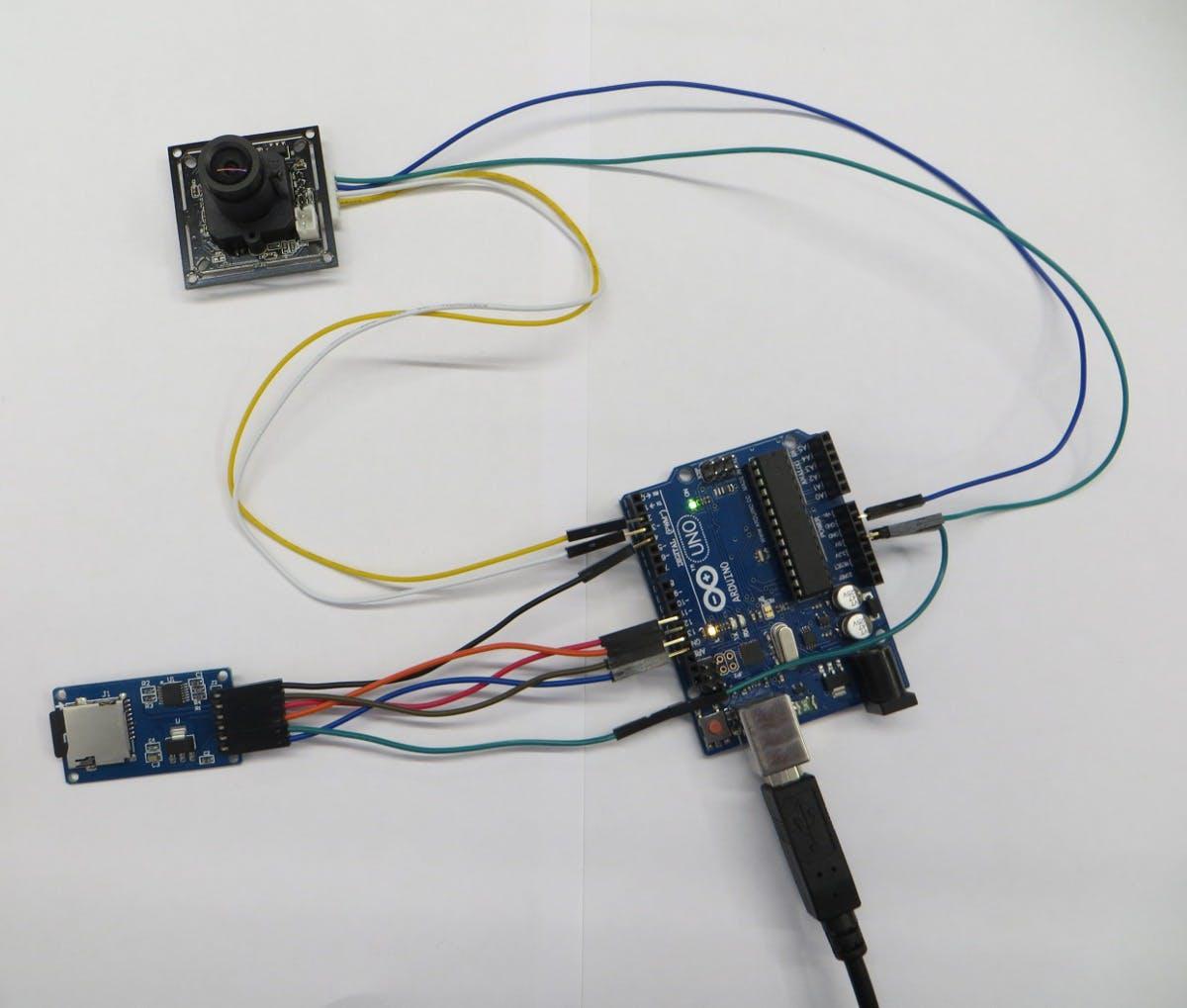 Figure 14. Test Camera and misroSD card.