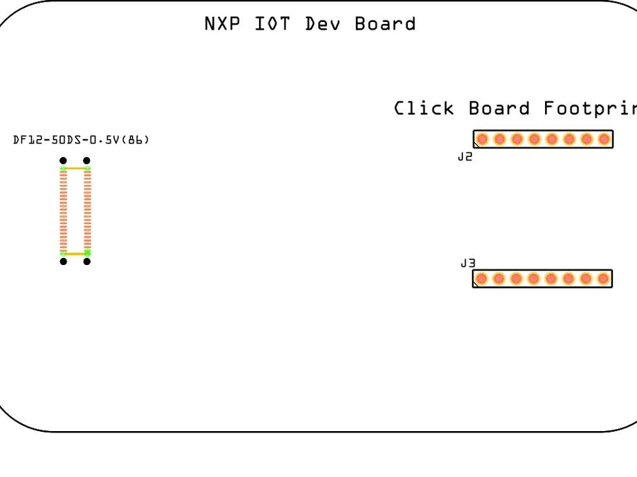 NXP Connector Footprint and Ard/ Click Footprint in Fritzing
