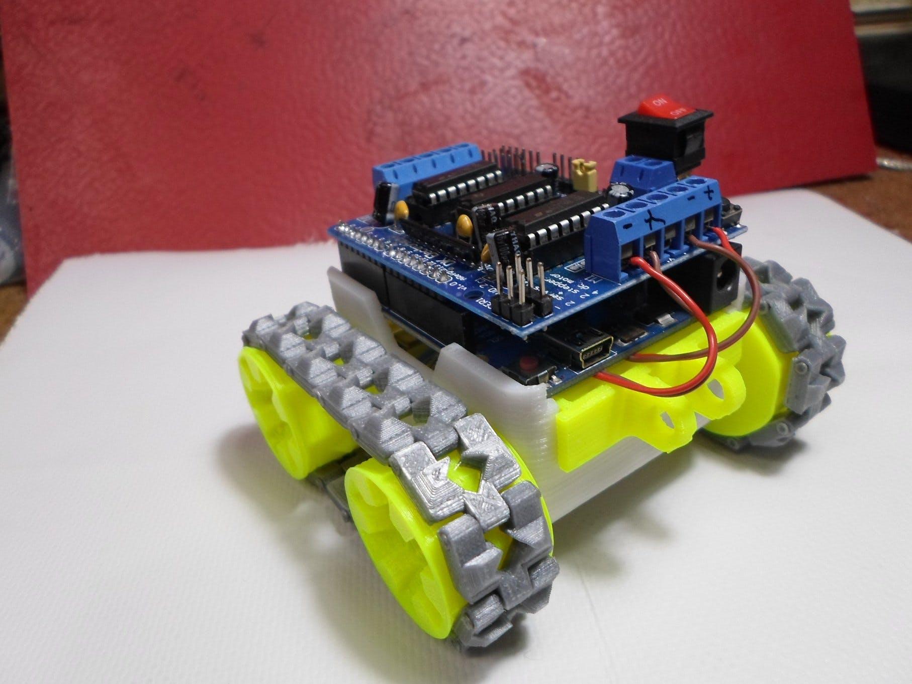SMARS: 3D-Printed Arduino Caterpillar Robot