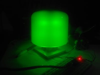 Simple 3D-Printed WS2812-Based RGB Lamp