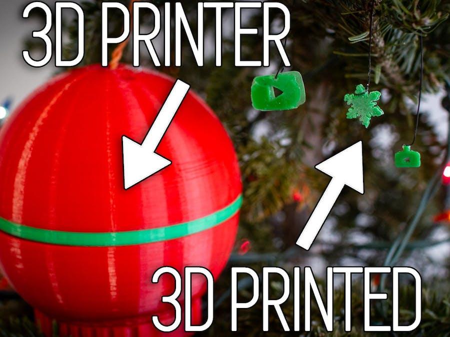 3d Printed Christmas Ornaments.Christmas Ornament That 3d Prints Christmas Ornaments