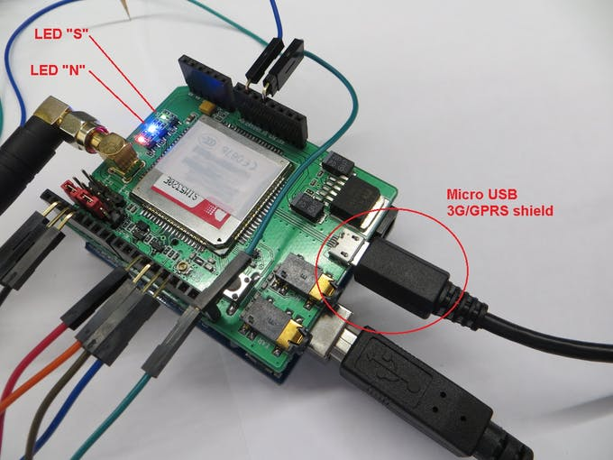 Figure 19. Micro USB (3G/GPRS shield).