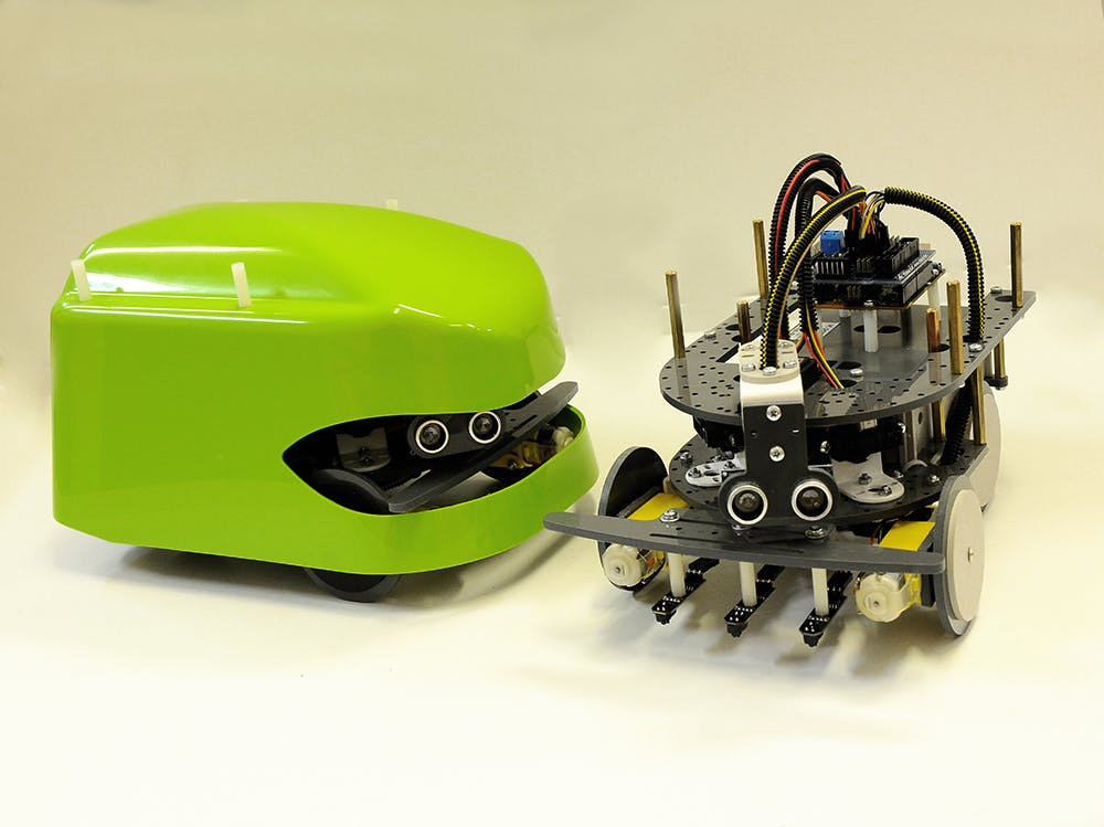 Look! Super protected Arduino robot