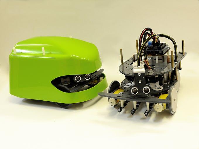 Look! Super protected Arduino robot