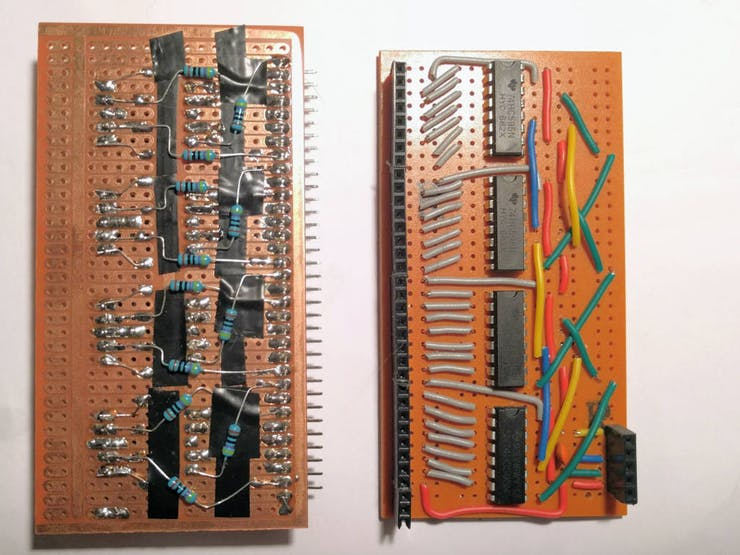 LED module + 74HC595 Shift Register module