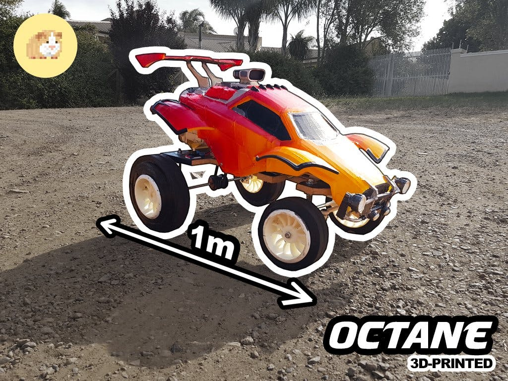 RC Car with an Angle Grinder!
