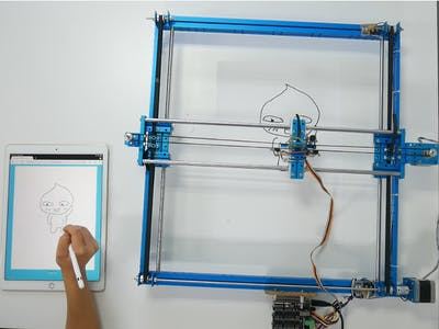 Arduino - Drawing via Web Using Step Motor Controller