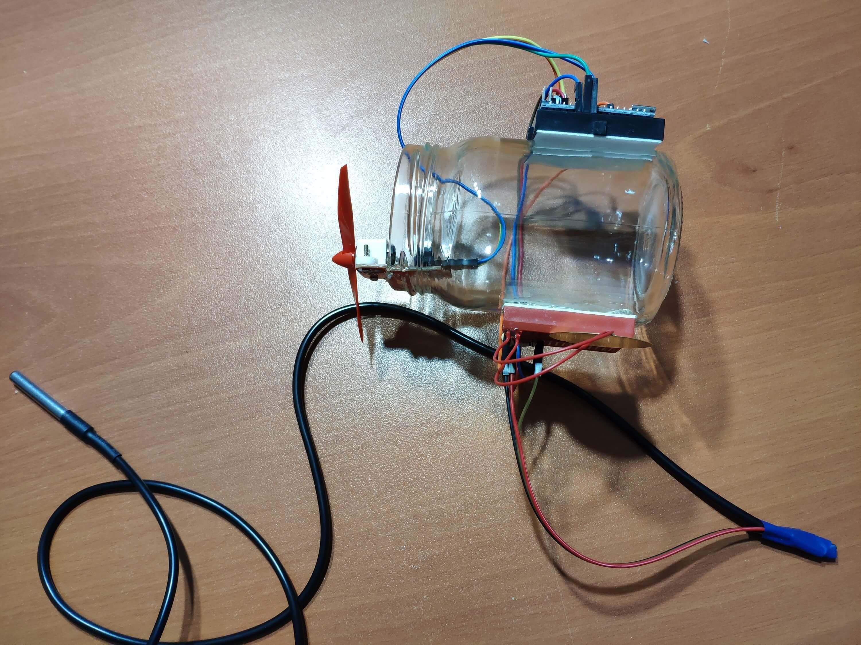 Jar Temperature Detector and Cooling Fan