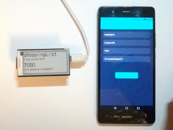 Low-Power Consumption Remote Notepad Using ePaper Display