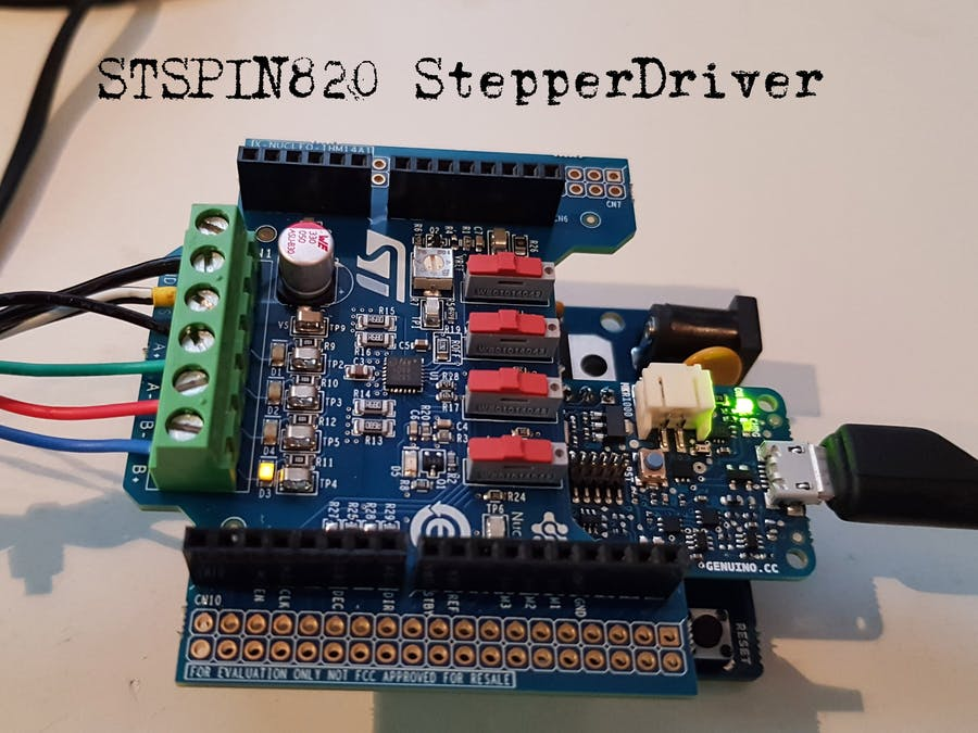 Arduino STSPIN820 Stepper Driver