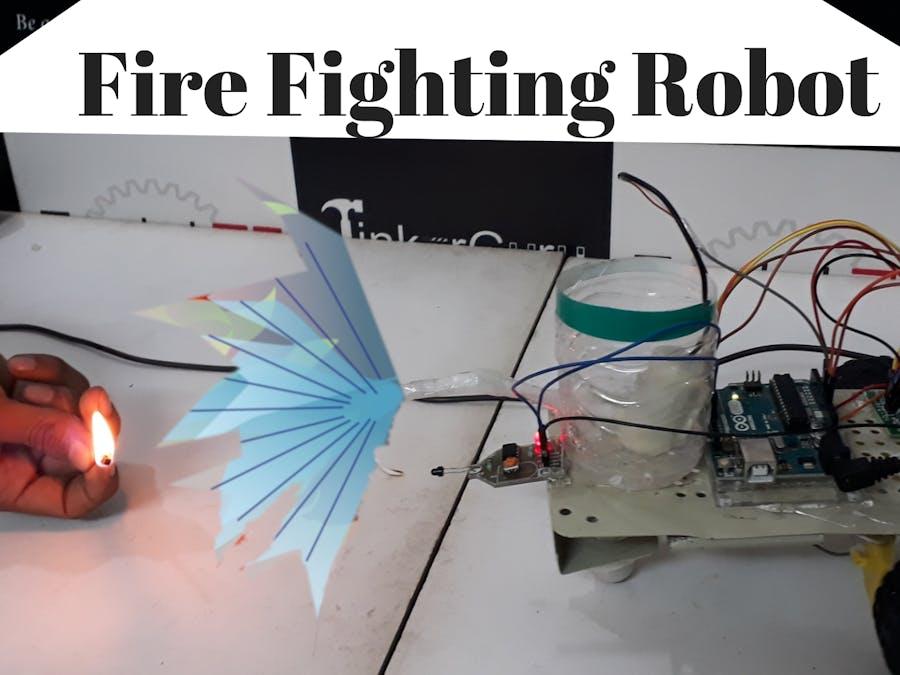 Arduino based Fire Fighting Robot using falme sensor