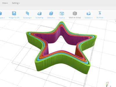 Designing a Star Shaped Cookie Cutter