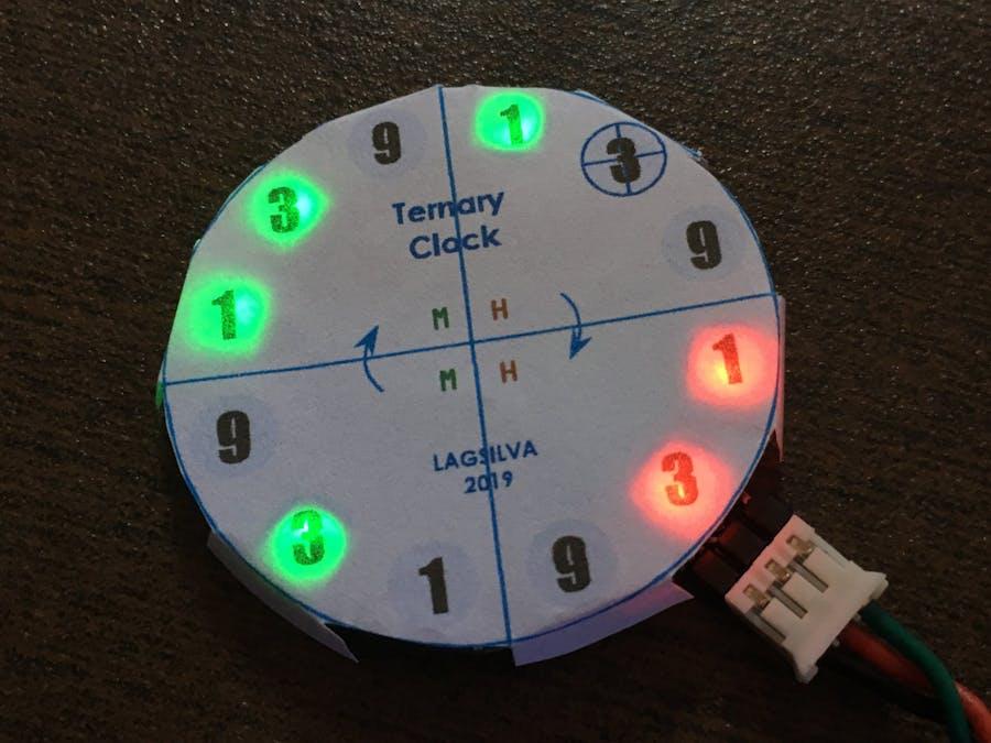 Ternary Digital Clock with Arduino