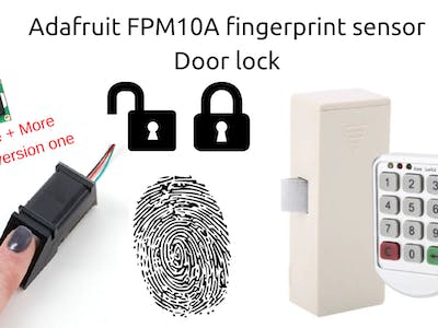 Fingerprint Door Lock Based on FPM10A