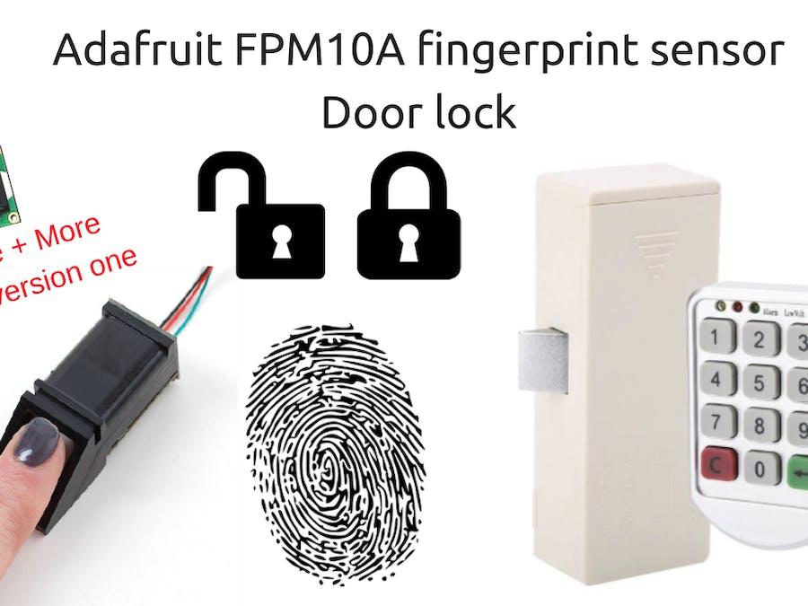 Fingerprint Door Lock Based on FPM10A - Arduino Project Hub