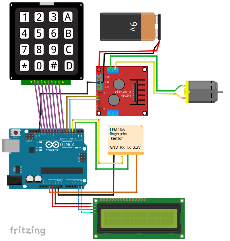 Fingerprint Door Lock Based on FPM10A - Hackster io